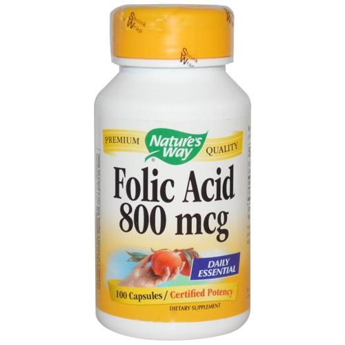 Folic Acid 800mcg Nature's Way 100caps