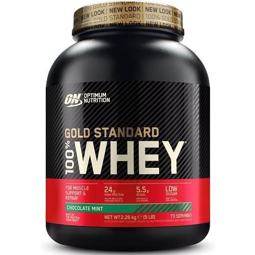 100% Whey Gold Standard 2270gr Chocolade Mint