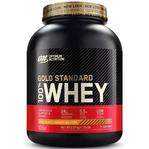 100% Whey Gold Standard 2270gr Chocolade Peanut