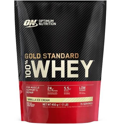 100% Whey Gold Standard 450gr Vanille